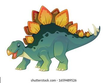 Stegosaurus Cartoon Dinosaurs Prehistoric Illustration