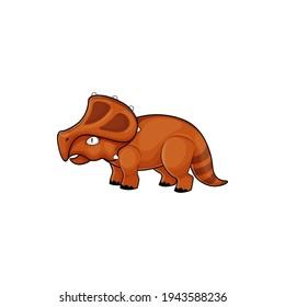 Stegosaurus lizard isolated prehistoric dinosaur with horn. Vector herbivorous thyreophoran dinosaur, Kentrosaurus predator animal, brontosaurus reptile. Kids toy, Stegosaurus triceratop grazer