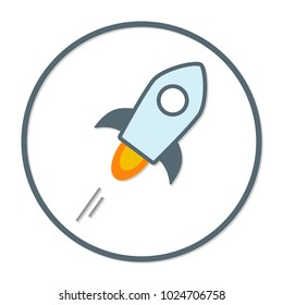 Stellar coin cryptocurrency. Vector colored sign icon. Internet money