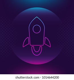 Stellar Lumen XLM vector outline icon Cryptocurrency, crypto currency blockchain button. Bright lighting luminace logo adaptation design web site mobile app, EPS. Ultra violet background