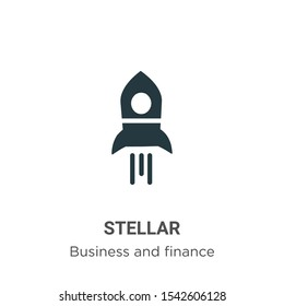 Stellar vector icon on white background. Flat vector stellar icon symbol sign from modern business and finance collection for mobile concept and web apps design.