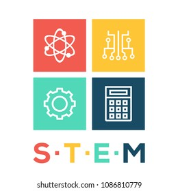 STEM Concept Flat Icon