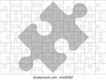 stencil of puzzle pieces. vector illustration