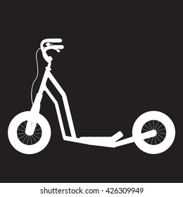 stencil scooter with the handbrake on a black background
