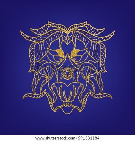 stencil template gold mandala laser paper stock vector royalty free
