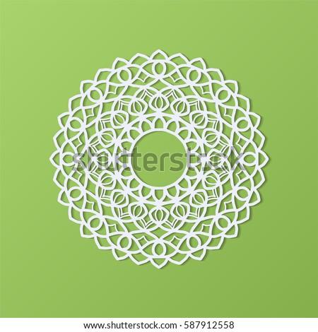 stencil template mandala laser paper cut stock vector royalty free