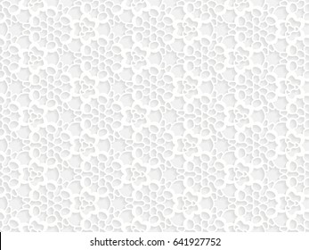 Stencil template of white Arabesque laser paper cut in Arabic seamless pattern for Ramadan Kareem or Islamic festival.Lace vector illustration for wedding invitation and greeting card in vintage