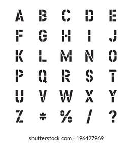 Stencil Vector Font