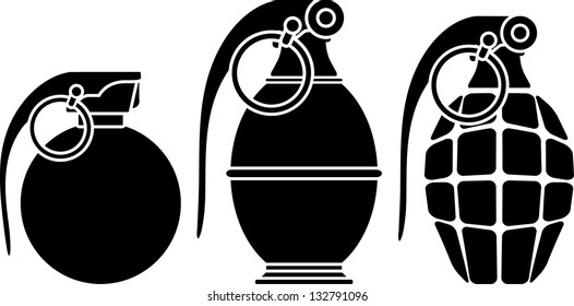 Stencils of grenades. vector illustration
