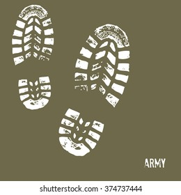 Step of Army Shoes