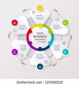 Step business infographic