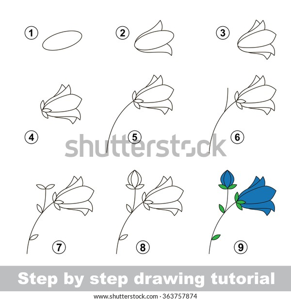 Step By Step Drawing Tutorial Vector Stock Vector Royalty Free 363757874