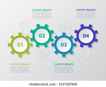 Step by step infographic. Template with 4 numbers can be used for workflow layout, diagram, chart, number options, web design, business presentation, trainings.