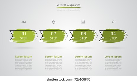 step by step infographic template presentation stock vector royalty