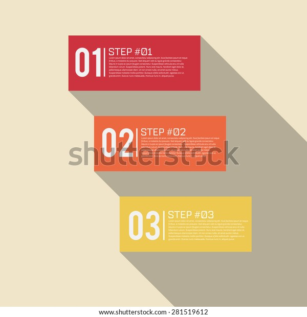Step By Step Infographics Success Vector Stock Vector