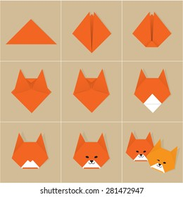 step by step instructions how to make origami fox