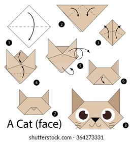 Origami Cat Heart Tutorial - Origami Heart Pocket - Paper Kawaii | 280x260