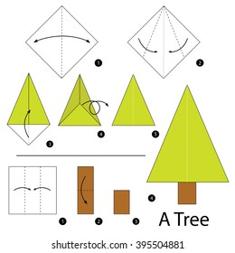 Step By Instructions How To Make Origami A Tree