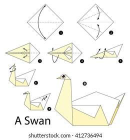 Easy Origami Swan Tutorial | 280x260