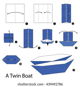 how to make origami boat - YouTube | 280x260