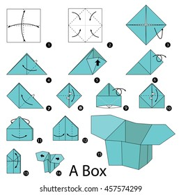 Step By Instructions How To Make Origami A Box