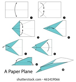 Step by step instructions how to make origami Vector Image | 280x260