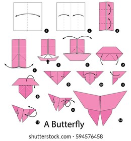 Step by step instructions how to make origami A Butterfly.