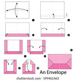 DIY Origami envelope - Aliz's Wonderland | 280x260