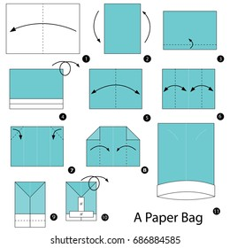Step By Instructions How To Make Origami A Paper Bag