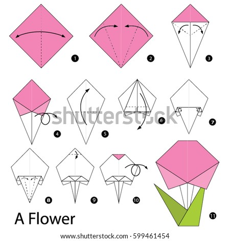 Step by step instructions how make stock vector royalty free step by step instructions how to make a origami flower mightylinksfo