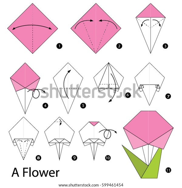 Origami Flower Instructions Images, Stock Photos & Vectors ... | 620x600