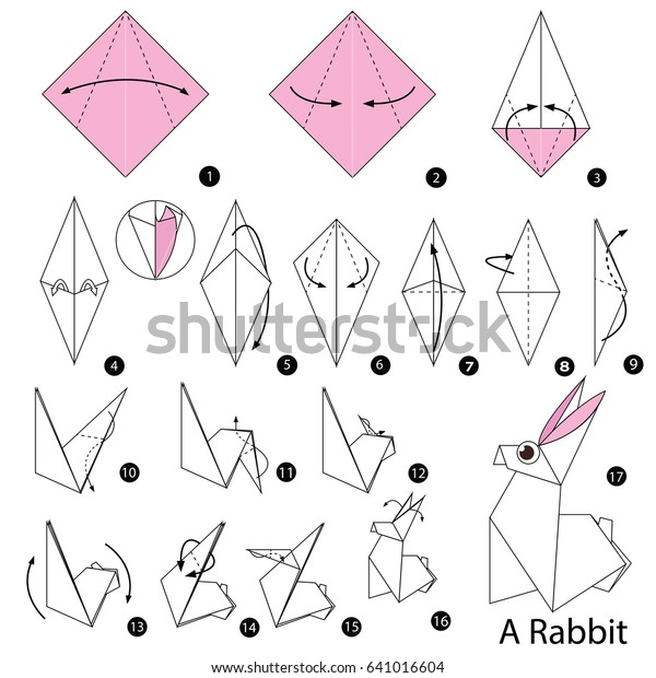 paper crafts for easter: origami bunny cubes tutorial - crafts ... | 620x600