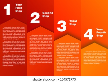 Step by step - progress diagram. Vector illustration