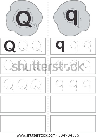 Step by step writing how write stock vector royalty free 584984575 step by step writing how to write letter q expocarfo Images