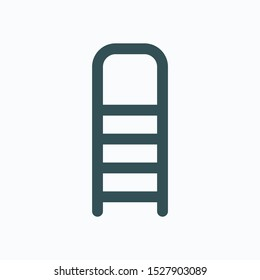 Step ladder isolated icon, stepladder linear vector icon