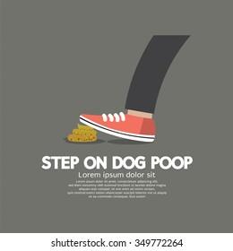 Step On Dog Poop Vector Illustration