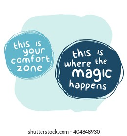 Step Outside Your Comfort Zone (Motivational Quote Vector Art)