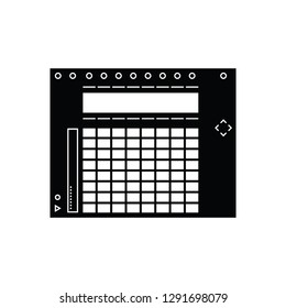 Step sequence MIDI controller flat vector pictogram
