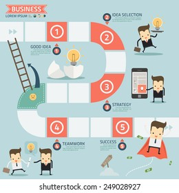 step for success business concept vector