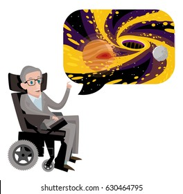 Stephen Hawking great scientist talking about black holes