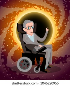 Stephen Hawking talking about black holes
