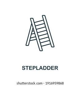 Stepladder icon. Simple illustration from furniture collection. Creative Stepladder icon for web design, templates, infographics