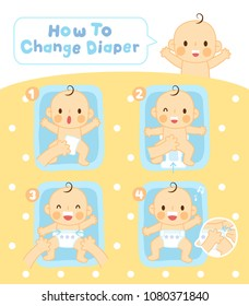 steps to change diaper