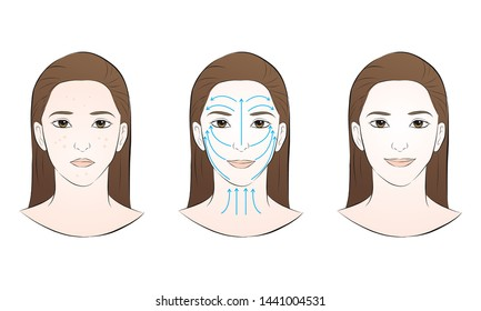 Facial Massage Steps Images Stock Photos Vectors Shutterstock
