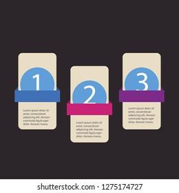 steps of modern Infografics template. for your presentation.