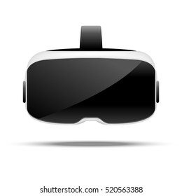 Stereoscopic 3d vr illustration. Vector virtual digital cyberspace technology. Innovation device