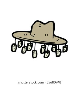 stereotype australian hat cartoon