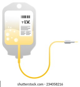 Sterile IV Bag - Illustration