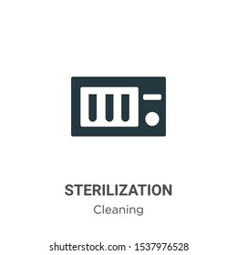 Sterilization vector icon on white background. Flat vector sterilization icon symbol sign from modern cleaning collection for mobile concept and web apps design.