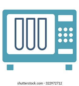 Sterilizer vector icon. Style is bicolor flat symbol, cyan and blue colors, rounded angles, white background.